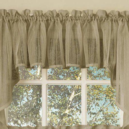 Kitchen Curtains 36 inch kitchen curtains : Voile Vertical Ruffle Window Kitchen Curtain 24 inch, 36 inch ...