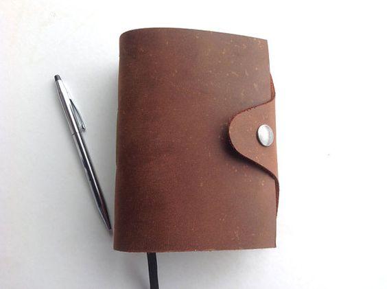 Tagebuch aus Leder, Lederbuch Notizbuch A6 Gästebuch Skizzenbuch