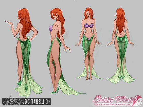 Super cute and sexy Disney Ariel Costume by J. Scott Campbell