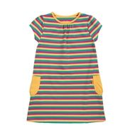 Kite jurk gestreept #biologische #eerlijke #kinderkleding verkrijgbaar op www.ekodepeko.nl