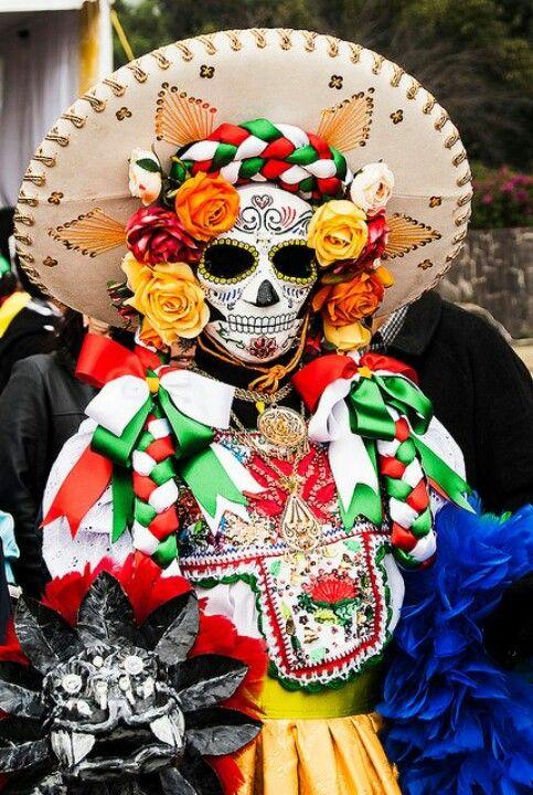 Antiguo México Somos Como Tú Presente Y Pasado Díademuertos Palabra De Mexicano Sugar Skull Art Mexico Day Of The Dead Day Of The Dead Skull