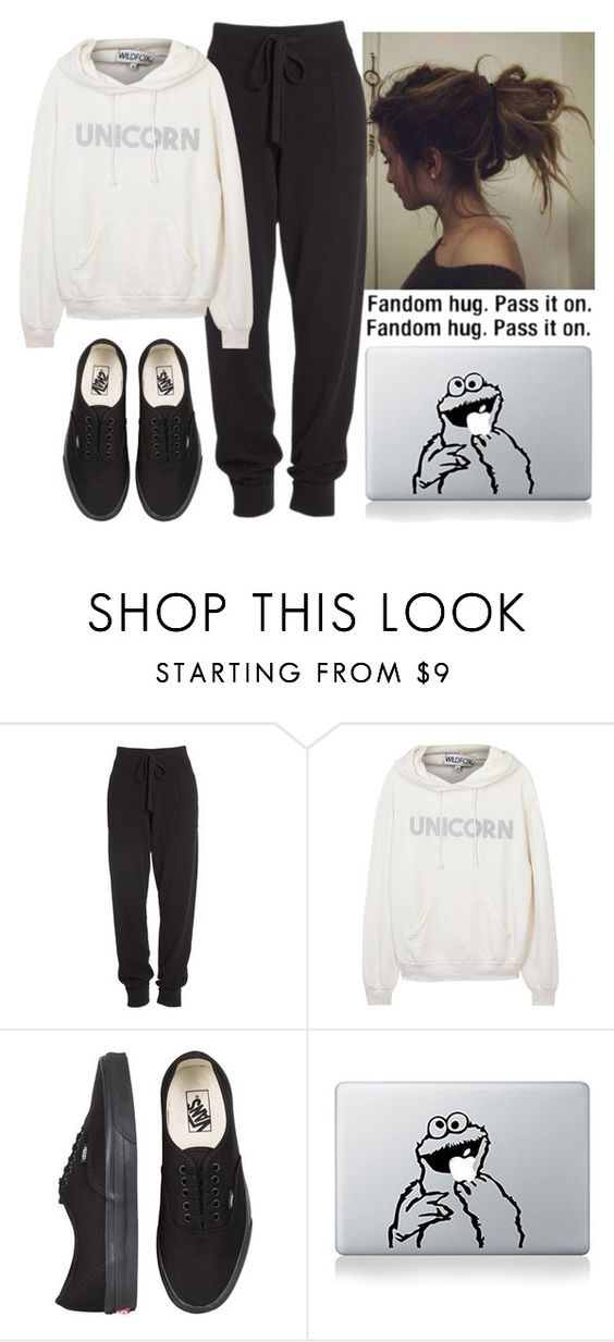 """I need a hug."" by nerdgirl070 ❤ liked on Polyvore featuring Donna Karan, Wildfox and Vans"