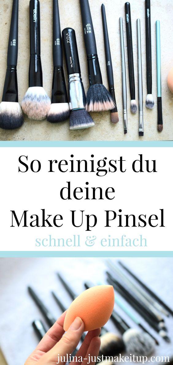 So reinigst du deine Make Up Pinsel schnell und effektiv ☆ Ohne Spezialprodukte werden deine Schmink-Pinsel und dein Beauty Blender ganz schnell wieder sauber. So sehen sie wieder aus wie neu. ☆ Dein Beautyblog ☆