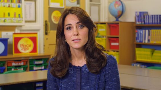 Kate Middleton made a video for Children's Mental Health Week 2016.