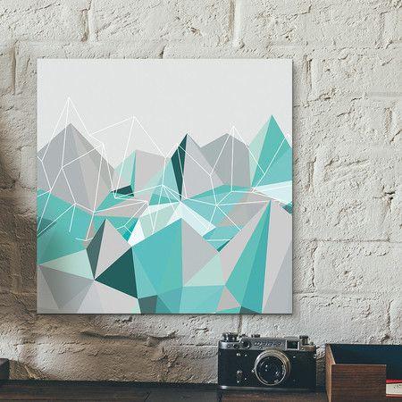 Placa decorativa - Hill of diamonds Turquesa