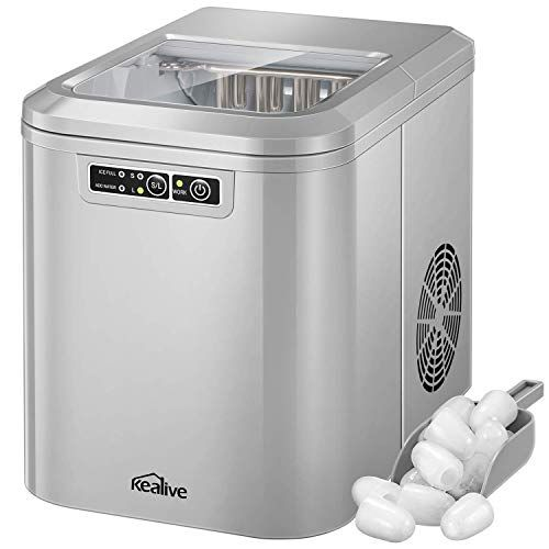 Kealive Ice Maker Machine Ice Cube Maker Countertop Ice Maker