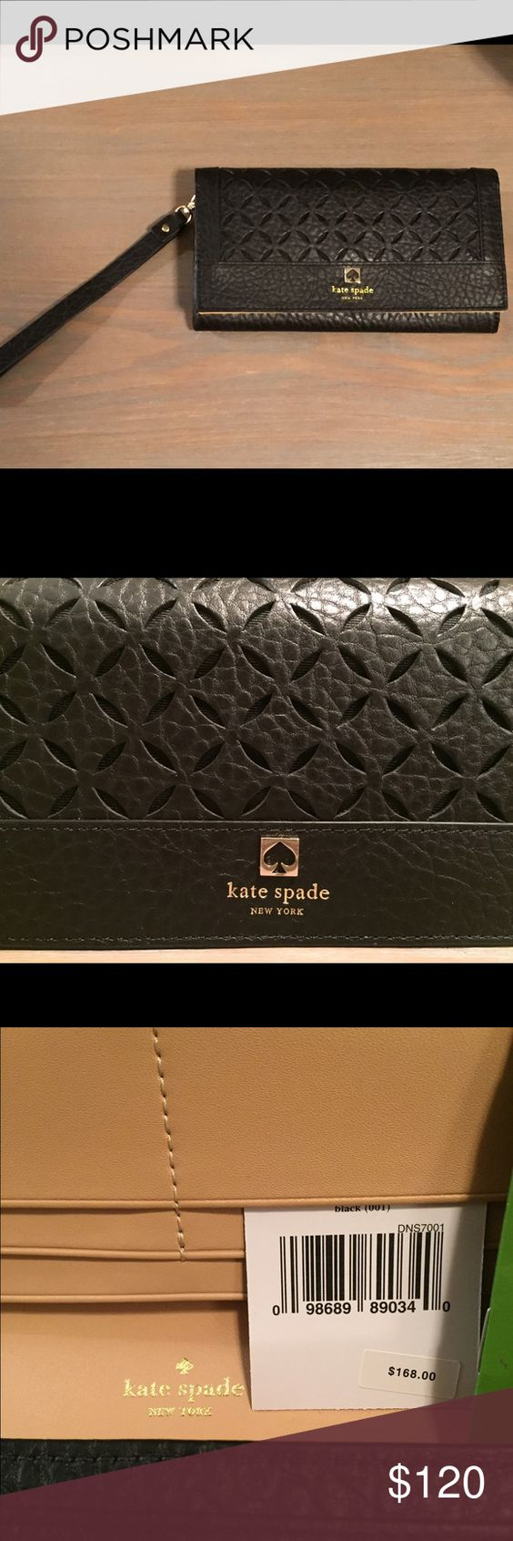 Kate Spade Perri Lane Linney wristlet. NWT! New with Tag - never been carried/used. Can be used as a wristlet or a wallet. Wristlet strap is removable. kate spade Bags Clutches & Wristlets