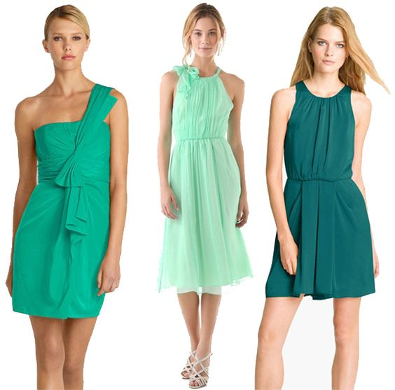 Green Wedding Dresses, #green #wedding #dress #dresses #guest #bridesmaid #summer, #style #fashion #trends, via The Style Umbrella Blog