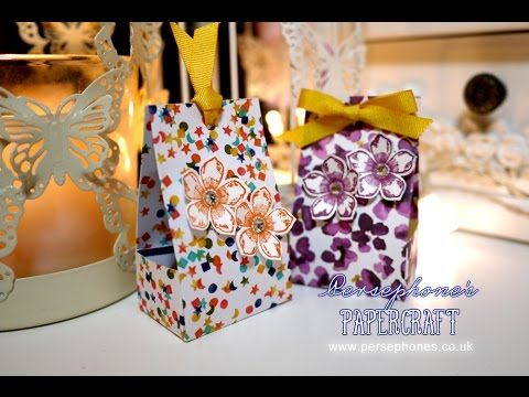 3x6 Series: Box in a Bag | Stampin' Up (UK) with Persephone's Papercraft - YouTube