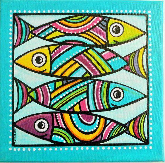 les sardines un tableau de poissons color s. Black Bedroom Furniture Sets. Home Design Ideas