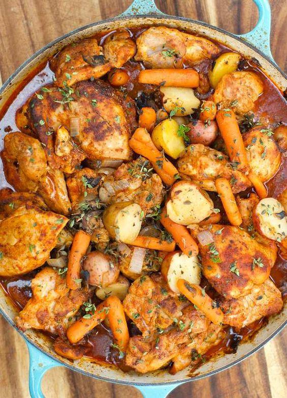 Chicken thighs recipes dinner ideas holiday dinner chicken homemade