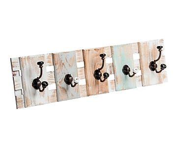 Perchero de pared en madera dm abla proyecto recibidor - Percheros pared vintage ...