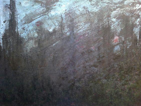 Ca0212 Óleo tela 70x50x2 cm Estructura ruinosa