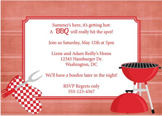 Party411 - outdoor bbq party ideas planning tips, Backyard bbq - bbq invitation template