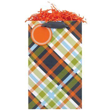 Modern Tartan Pillar Bag