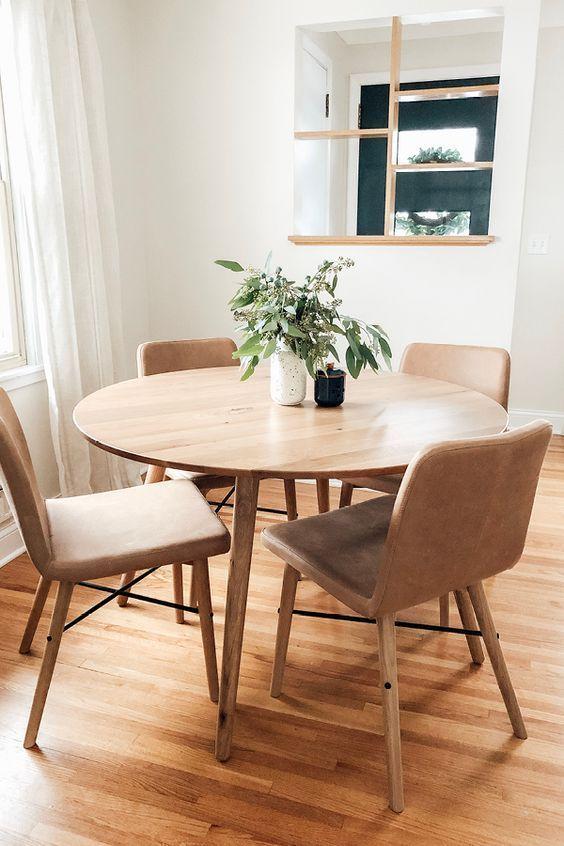 34+ White and oak round dining set Inspiration