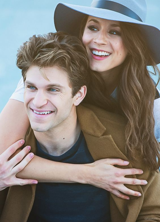 """Be silly and real and original. The world has enough """"ordinary"""". // Keegan Allen and Troian Bellisario star as Toby Cavanaugh and Spencer Hastings in Pretty Little Liars."""