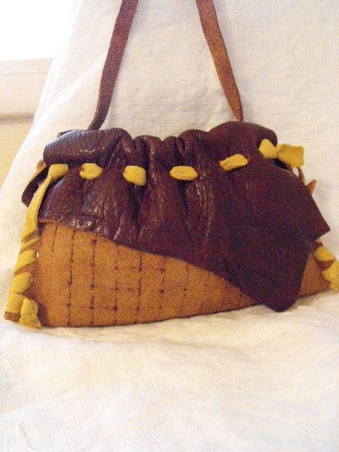 Leather & Elkskin  Purse Medicine or Amulet Bag by JustTara, $19.00