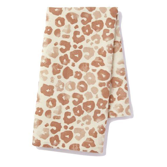 Pehr Designs Berkeley Poppy Tea Towel Persimmon
