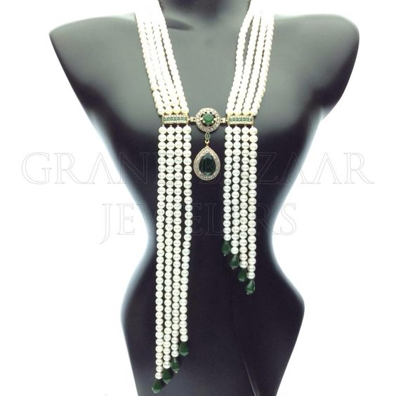 "Long Beaded Gemstone Tassel Necklace ""A STAPLE PIECE FOR YOUR JEWELRY COLLECTION BY #GBJ1455""  Turkish designers create beautiful gemstone Jewelry at the Grand Bazaar in Istanbul Turkey #GBJ1455 shop online at grandbazaarjewelers.com"