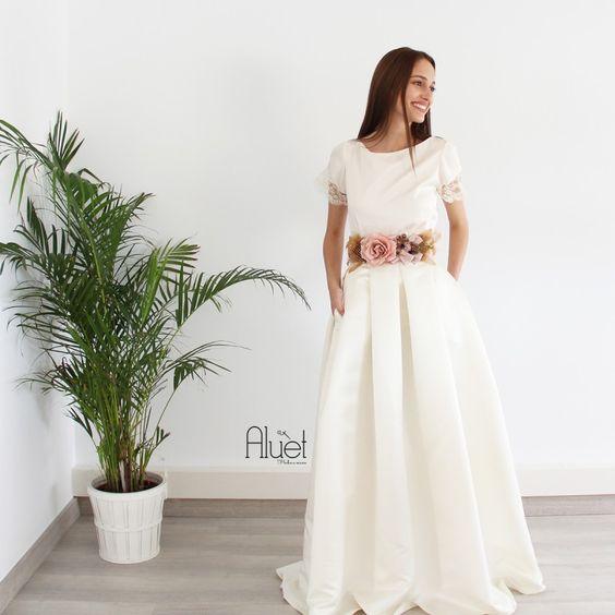 falda marchesa novia confeccionada a medida en Galicia 100% hecha a mano. Novias diferencias #NoviasAluet