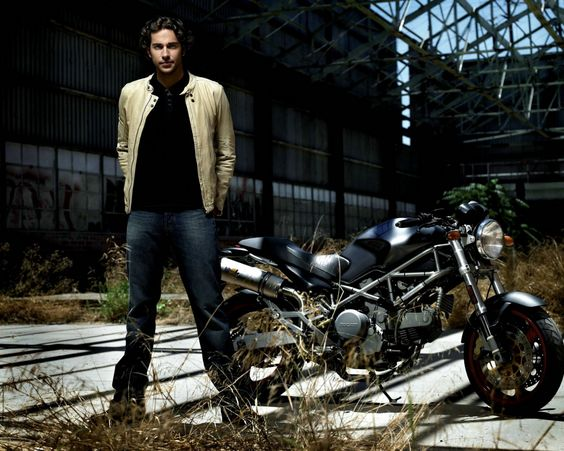 Zachary levi, motorcycle, black hair, actor
