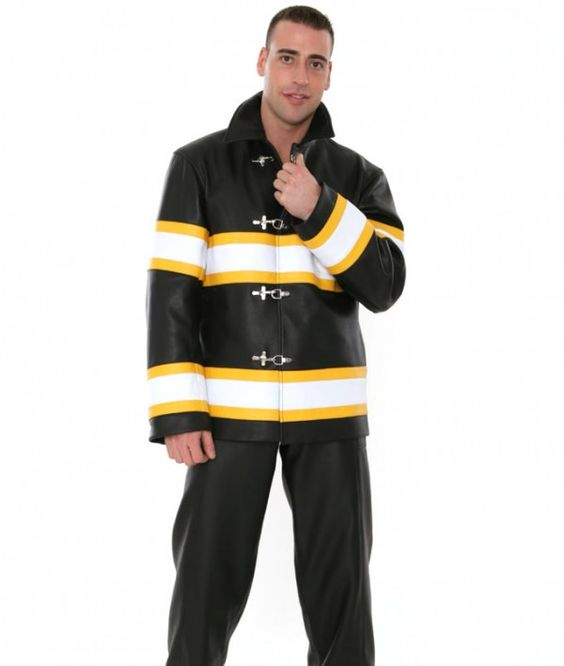 Made from premium quality genuine leather, this coat is made to measure, ensuring a perfect fit through the sleeves, back, waist, shoulders and chest.  #Mensleatherfirefighterjacket