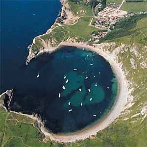 Lulworth Cove    ... section of the Jurassic Coast between Weymouth and Lulworth Cove