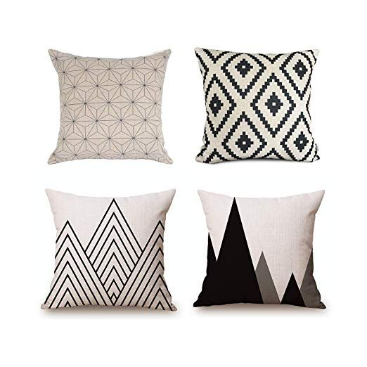 18/'/' Linen Cotton Geometry Throw Pillow Case Cushion Cover Home Sofa Decoration