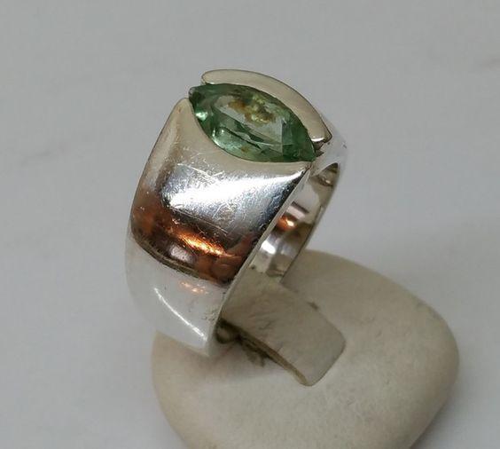 Vintage Ringe - Schöner Kristall Ring 925 Silberring Vintage SR147 - ein…