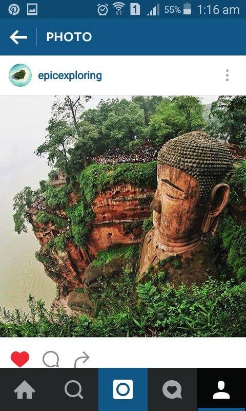 Giant budha in china