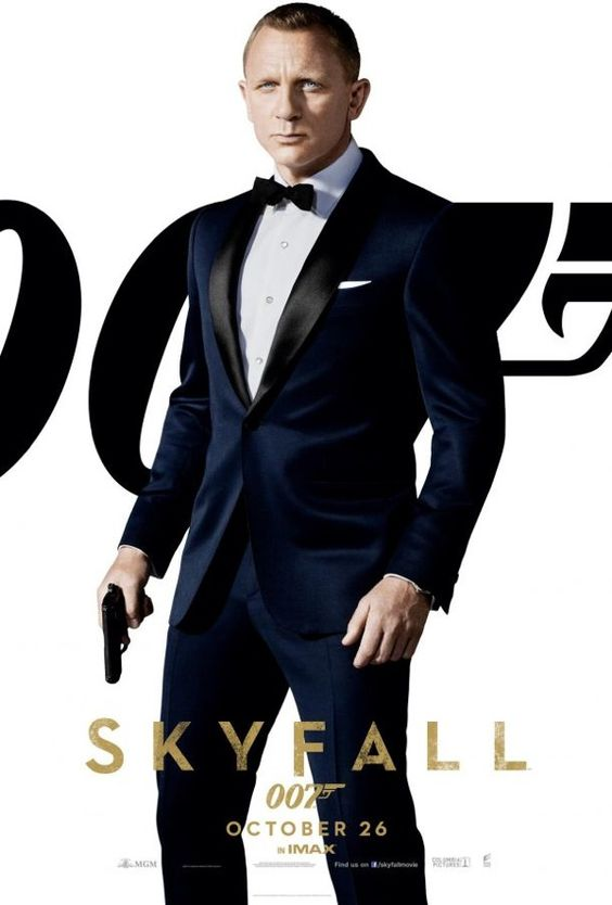 James Bond Skyfall movie posters series.