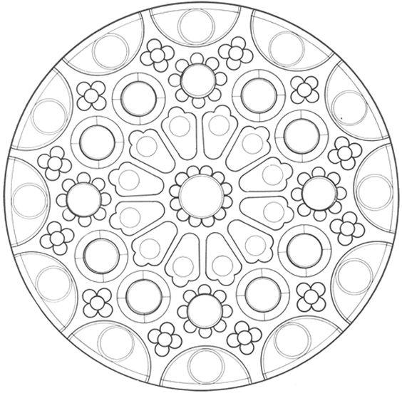 6 mandala a imprimer coloriages mandalas pinterest coloration mandalas et pages de - Dessin de mandala a imprimer ...
