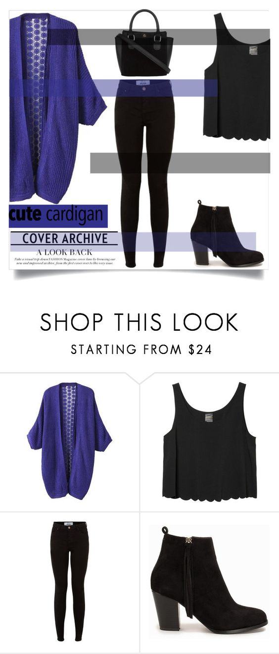 """cardigan"" by comicsheartkpop ❤ liked on Polyvore featuring Monki and Nly Shoes"