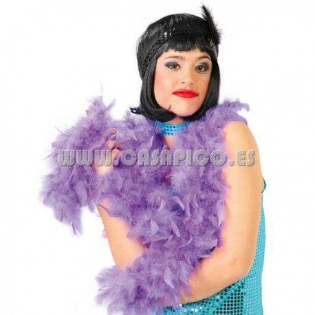 Boa de Plumas Violeta. #casapico #disfracescasapico #boasparadisfraces #plumasparadisfraces