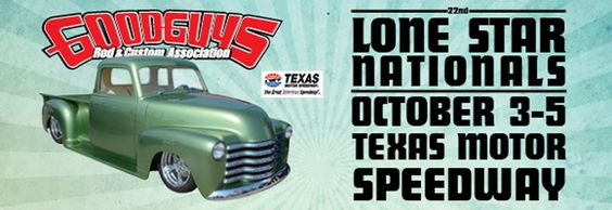 Mast Motorsports will be at the 2014 Goodguys Lone Star Nationals at Texas Motor Speedway October 3rd-5th.  Come say hello!