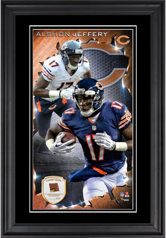 Jerseys NFL Outlet - Alshon Jeffery Bears NFL Player Plaques and Collages | Chicago ...