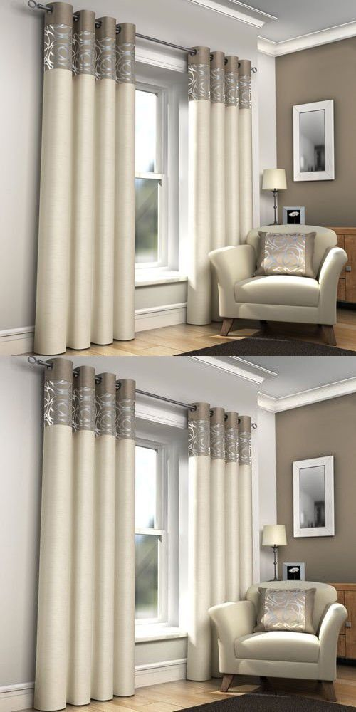 Mirabel Pair Of Skye Lined Window Curtain Panels Drapes With