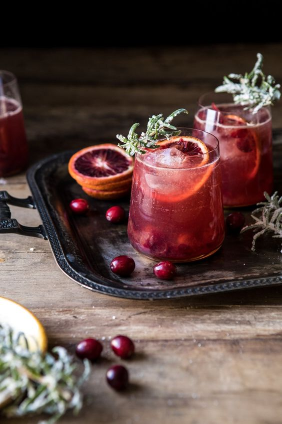 Spiced Cranberry Rosé Spritzers | halfbakedharvest.com #cocktails #thanksgiving #christmas #holiday #easyrecipes #punch via @hbharvest