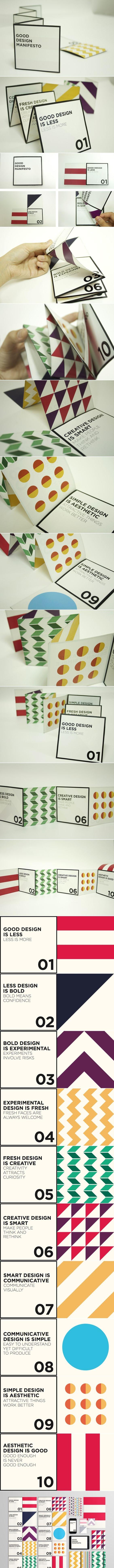 Good Design Manifesto  Platt Grupo Impresor les desea FELIZ DÍA! www.platt-grupoimpresor.com
