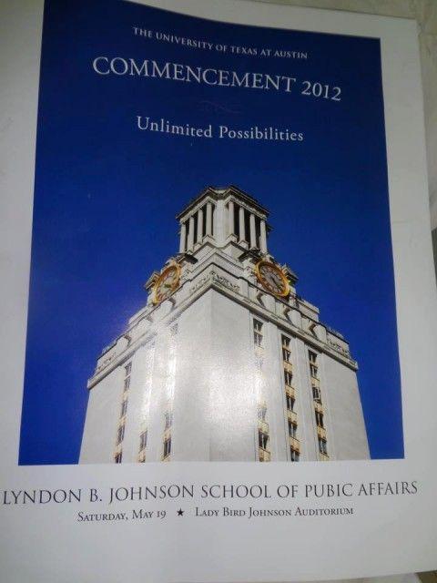 Typo on UT Commencement brochure