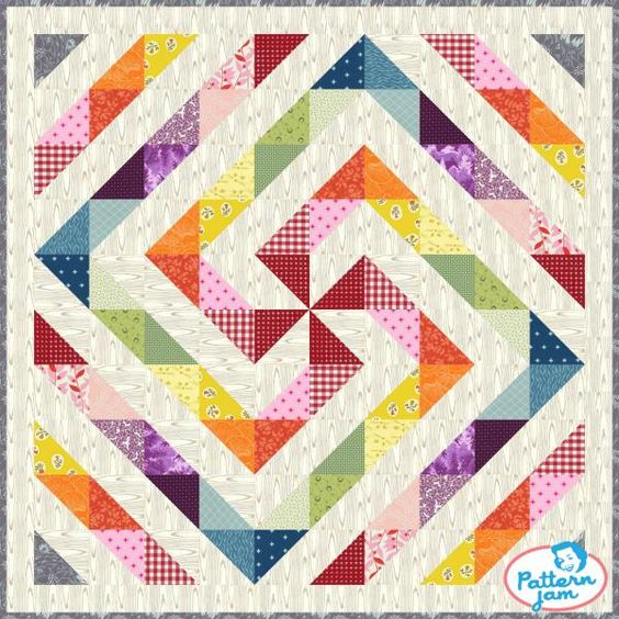 Check out this quilt top designed on @patternjam