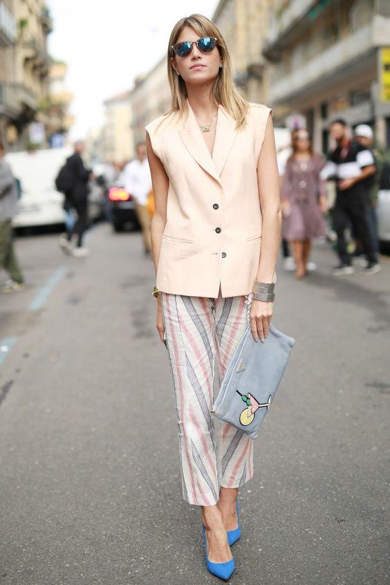 Helena Bordon - #colete #calca #estampa #blazer