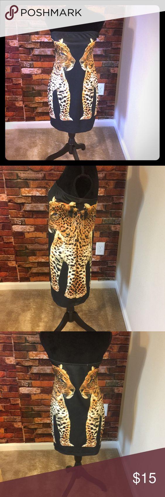 Women's halter dress Tiger design halter dress Dots Dresses Strapless