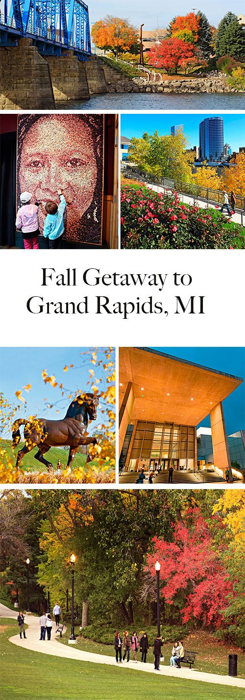 Fall brings new color to arts-minded Grand Rapids, Michigan, in the form of golden leaves and bronze sculptures. Tips for a great trip: