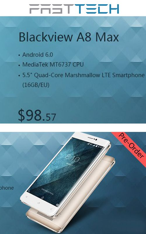 FastTech is offering Blackview A8 Max 5.5″ Quad-Core Marshmallow LTE Smartphone (16GB/EU) just at $98.57. this deal is currently activate on the site. For more FastTech Coupon Codes visit:  http://www.couponcutcode.com/coupons/946-95-prodrone-gdu-byrd-advanced-1-0-drone-gopro-gimbal/