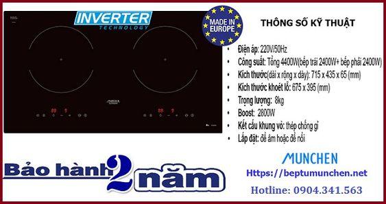 Tìm hiểu một số thông số kỹ thuật trên bếp từ Munchen GM 6640IN