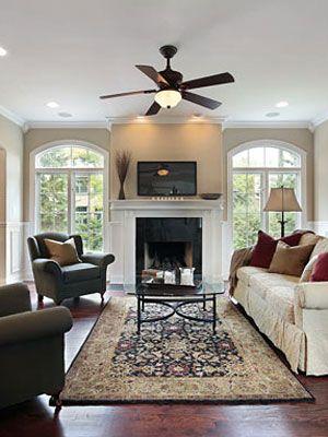 Furniture furniture arrangement and arranging furniture for Living room arrangements with fireplace