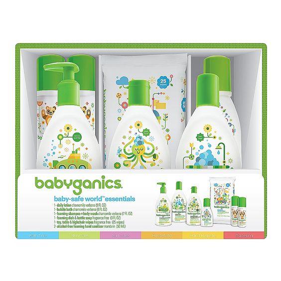 Babyganics Baby Safe World Essentials Gift Set Baby Safe Baby Gift Sets