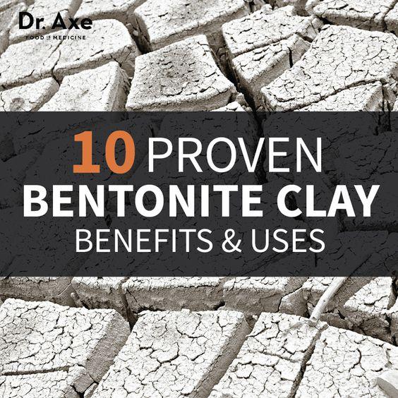 10 Proven Bentonite Clay Benefits & Uses  http://www.draxe.com #healthy #holistic #natural